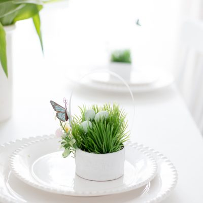 Mini Spring Basket Table Place Setting