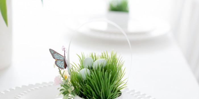 Mini Spring Basket Table Place Setting