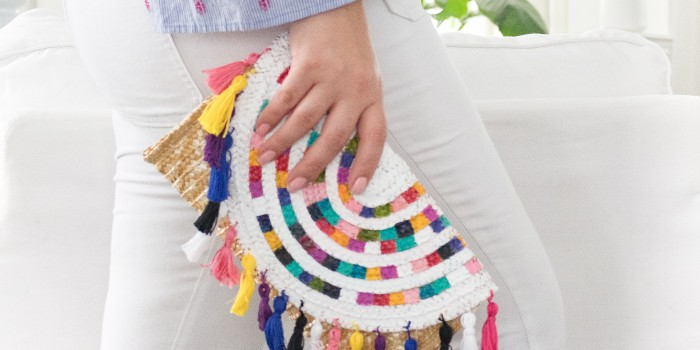 Colorful Clutch Bag with Tassels – DIY