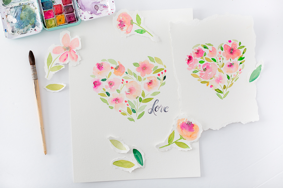watercolorflowerheartprintablecraftberrybush-4