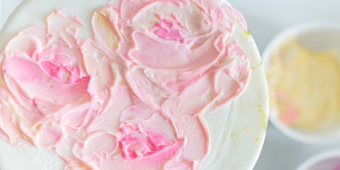 Palette Knife frosted painted cake