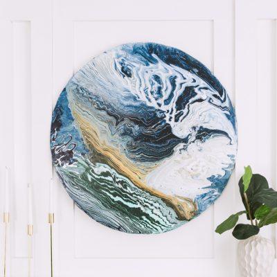 Acrylic Pour 'Swirl' Technique