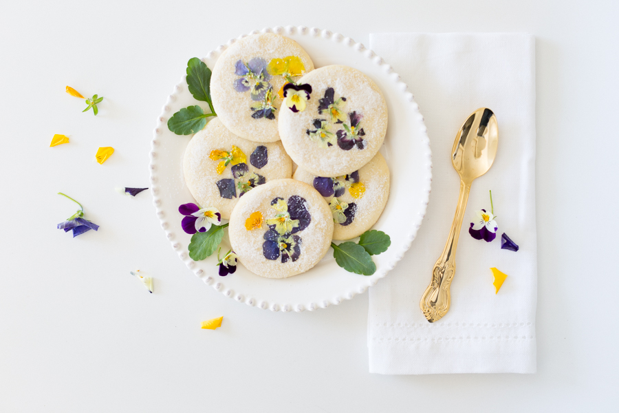 Pansy sugar cookies