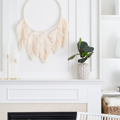 Macrame feather wreath DIY