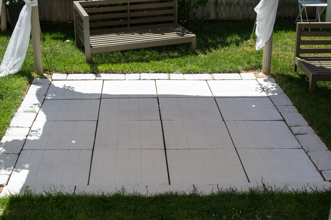Painted Patio Tiles