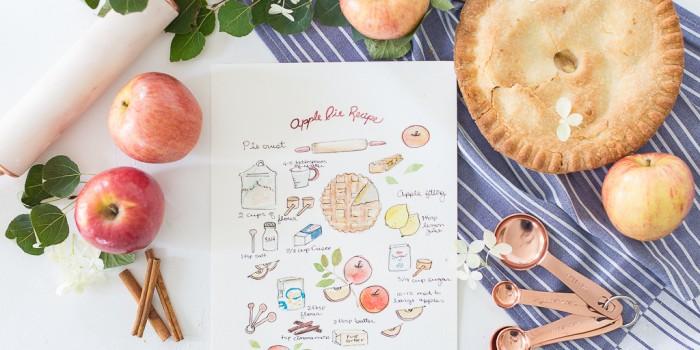 Apple Pie Illustrated Recipe- Free Printable
