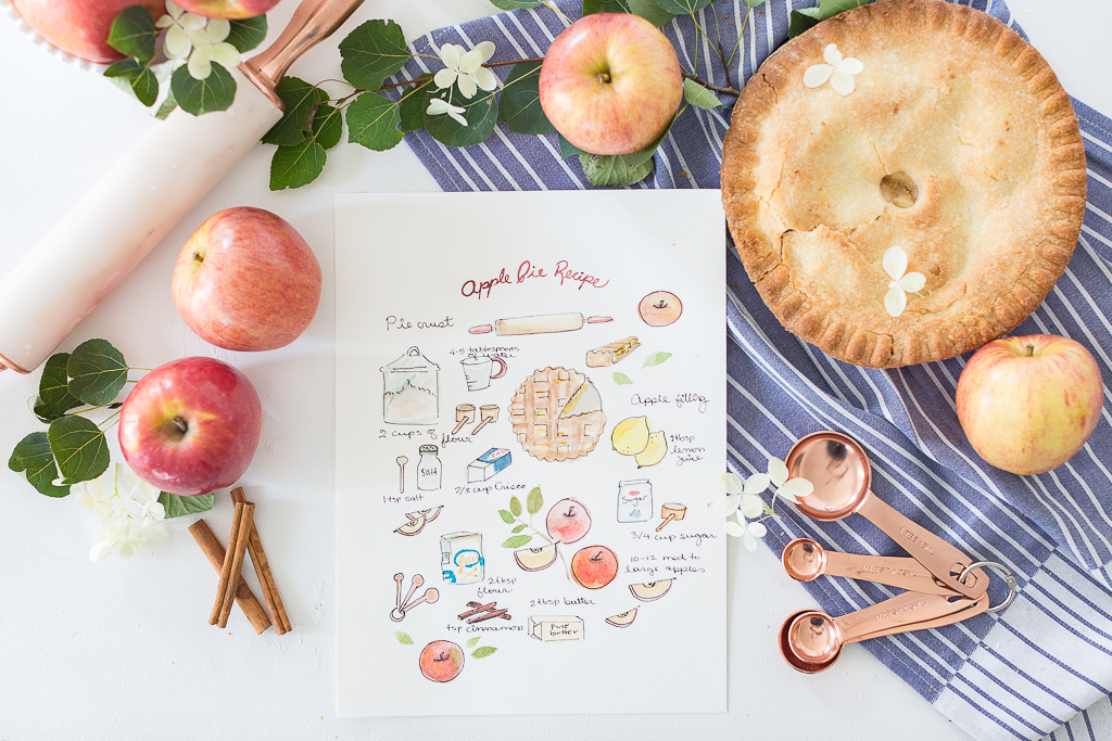 Apple Pie Illustrated Recipe- Free Printable