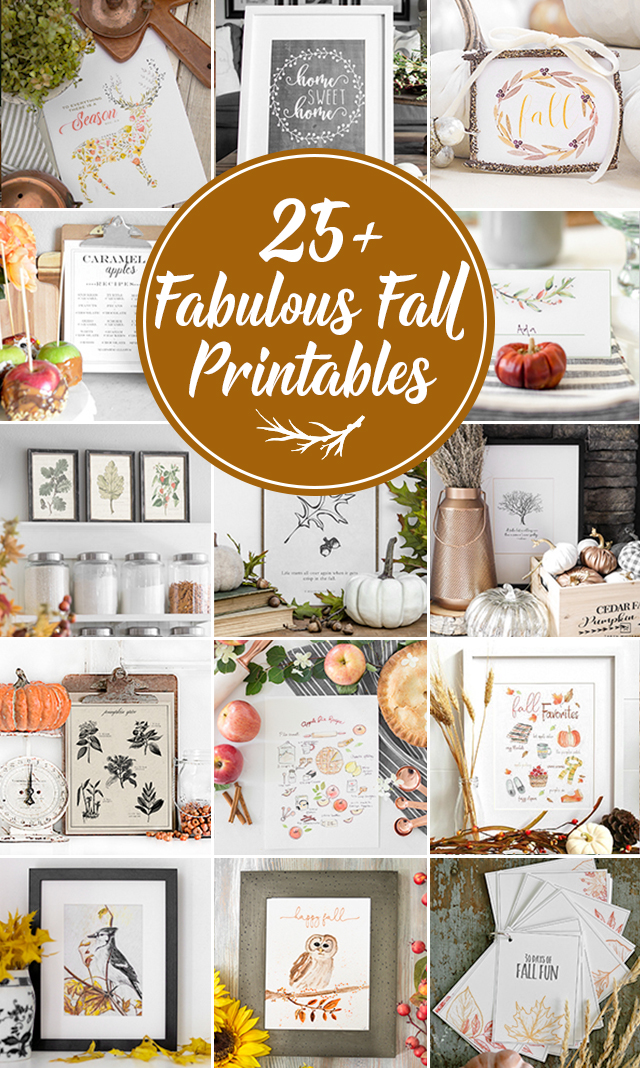 25+ Fall Printables.  Pumpkin Spice Printable with Recipe. LIve Laugh Rowe