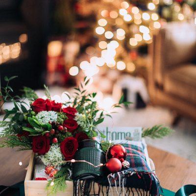 Christmas Flower Gift Box