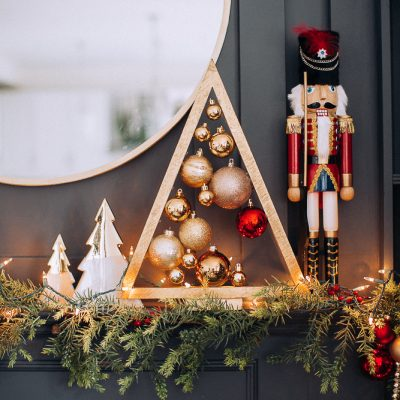 Mystery Box Christmas Mantel Challenge