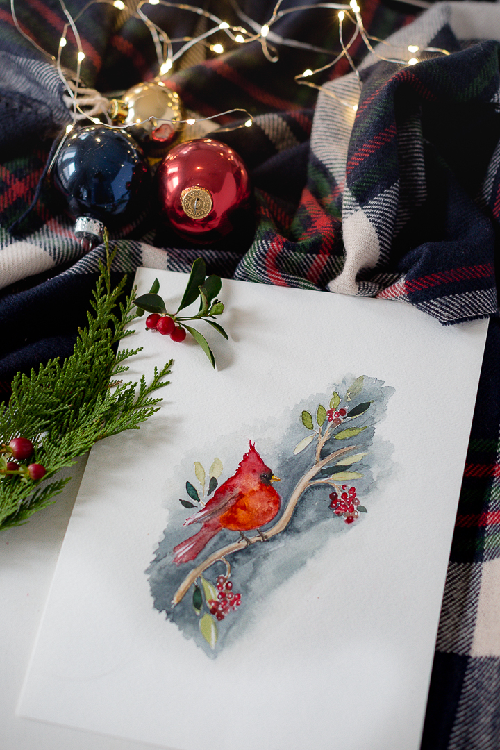 How to Paint a Watercolor Christmas Wreath – Video Tutorial
