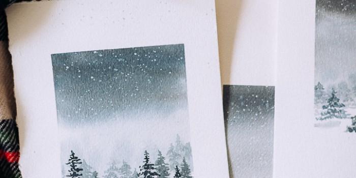 Watercolor Winter Scene Tutorial – A video