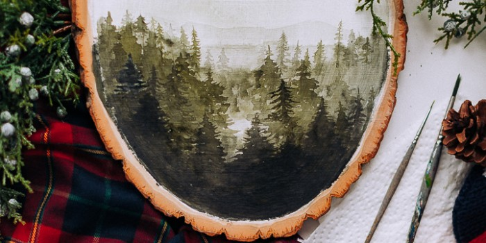 'Watercolor' effect on Wood – a Video