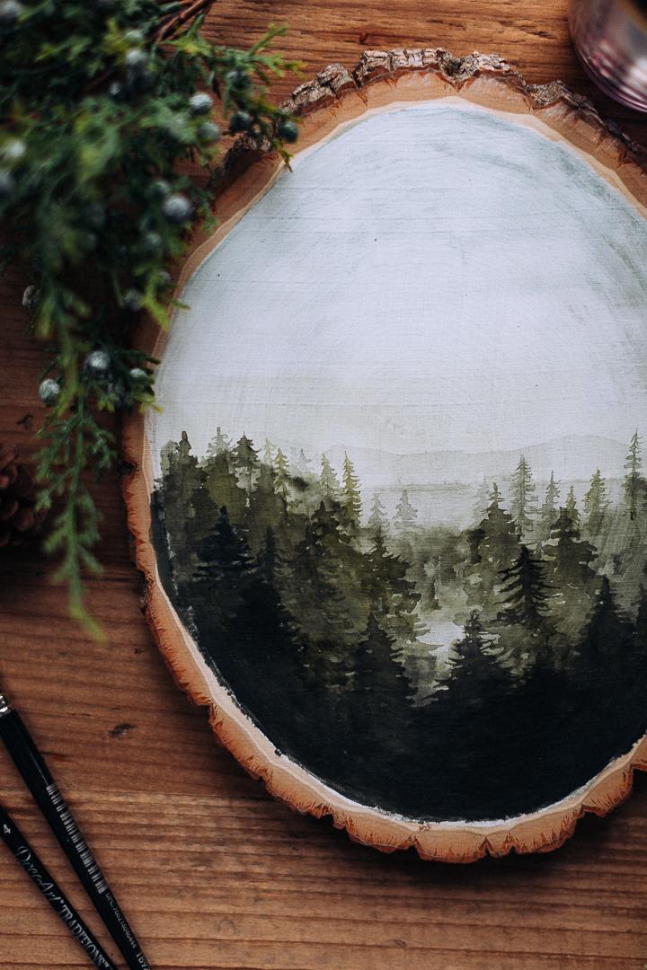 watercoloronwoodcraftberrybush.com-4