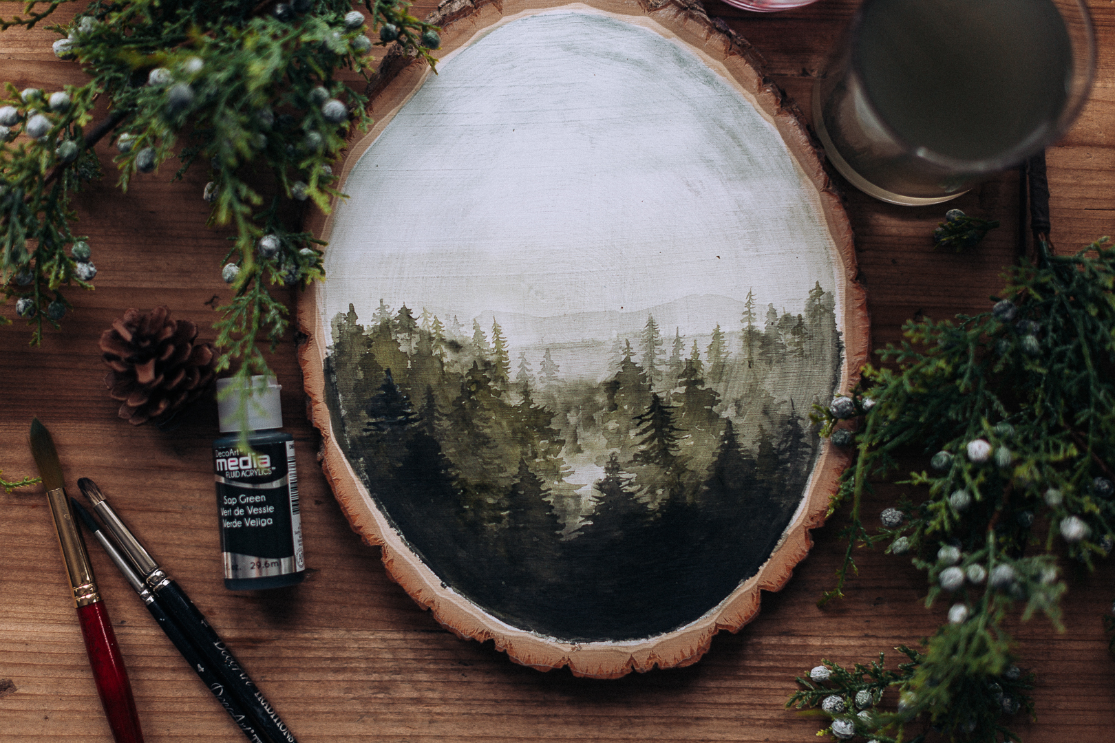 watercoloronwoodcraftberrybush.com-5