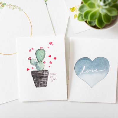 Quick Valentine inspired Cards – A video