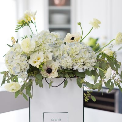 Gift Bag Flower Arrangement