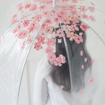 Hand painted cherry blossom umbrella