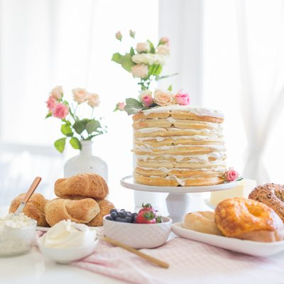 Waffle Cake and Easy Mother's Day Brunch Idea