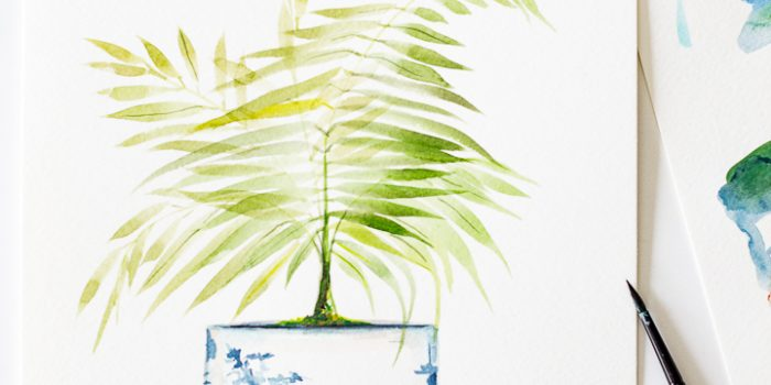 Palm in Chinoiserie Vase Printable