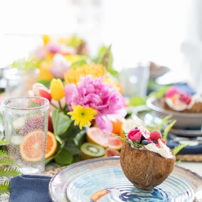Tropical Fruit Tablescape