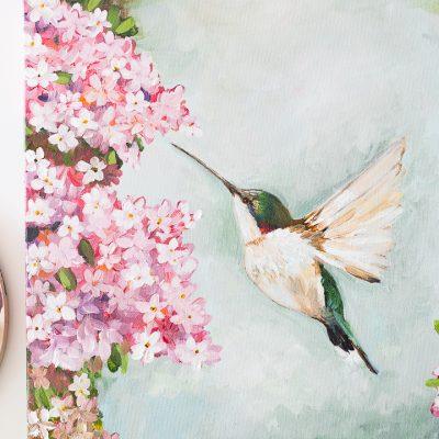Hummingbird Acrylic Painting
