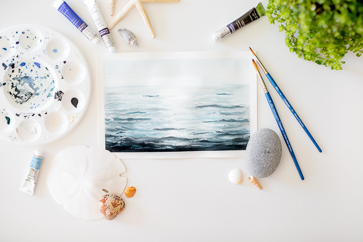 picture about Free Printable Watercolor Pictures to Paint known as A video clip of how in the direction of paint ocean drinking water with watercolor and a