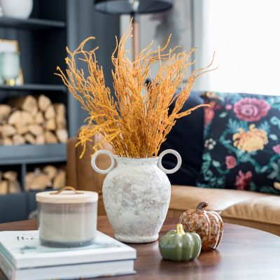 Rustic Vase DIY Using Texture Paint