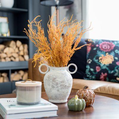 Rustic Vase DIY Using Texture Paint