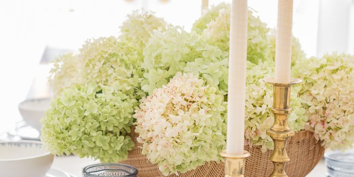 Limelight Hydrangea Centerpiece and Tablescape