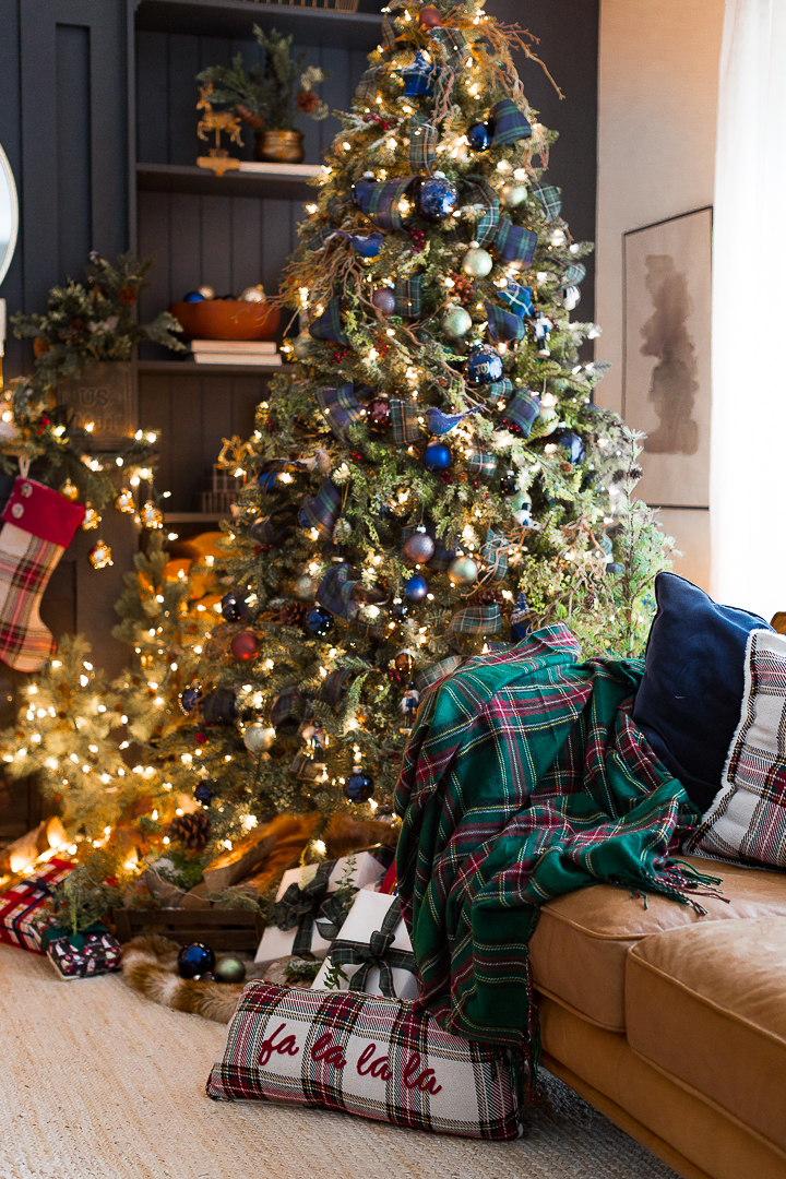 Green And Blue Plaid Christmas Trees