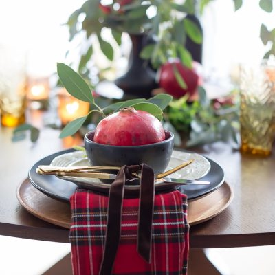 Red and Black Christmas Tablescape