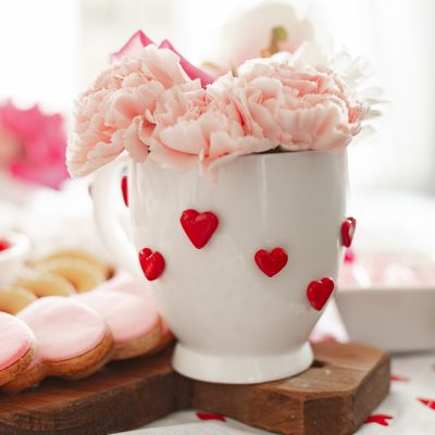 Valentine's day heart mug DIY