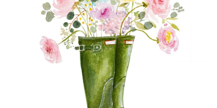 Free watercolor Spring printable