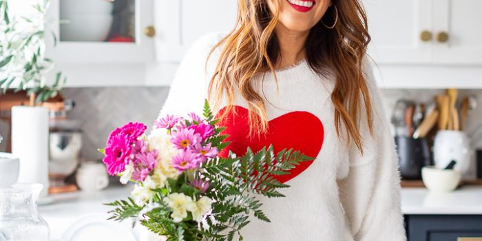Easiest Valentine's Day Sweater Tutorial