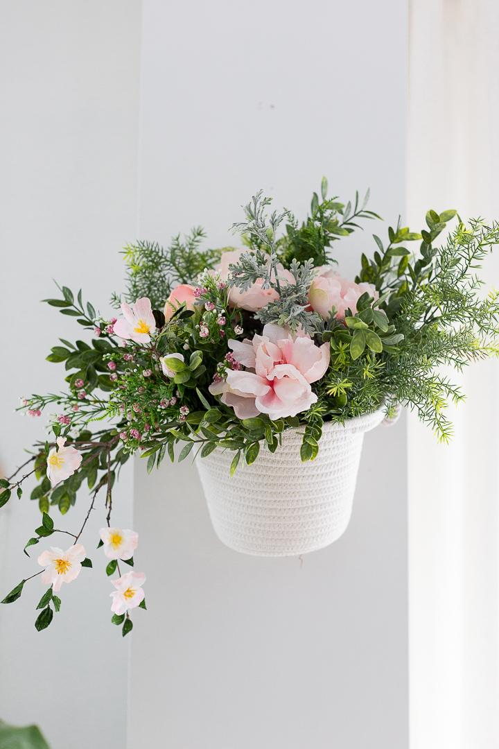 Dollar Store Hanging Flower Basket