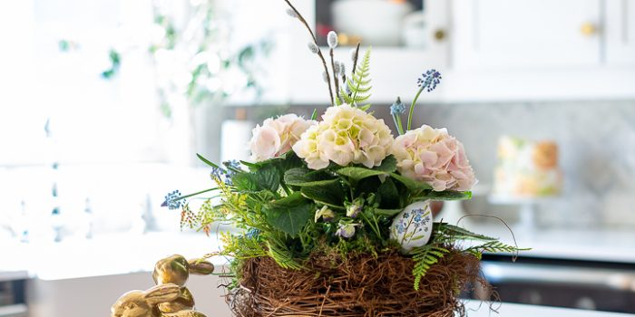Spring Nest Flower Arrangement