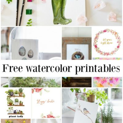 Ten Beautiful Watercolor Printables