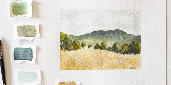 How to paint a watercolor landscape