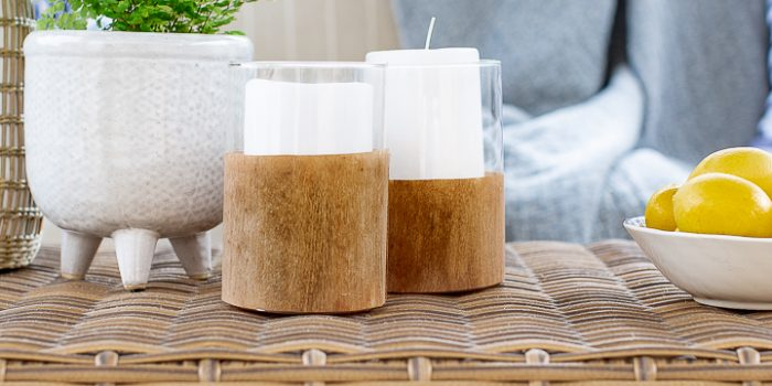 Wood and Glass Candle Holder DIY