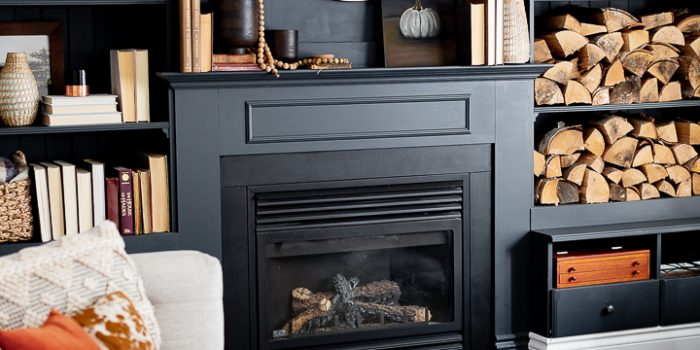 Simple Fall Mantel