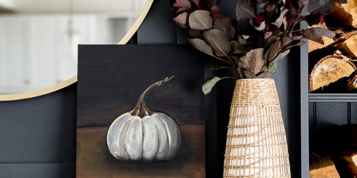 Moody Cinderella Pumpkin Painting