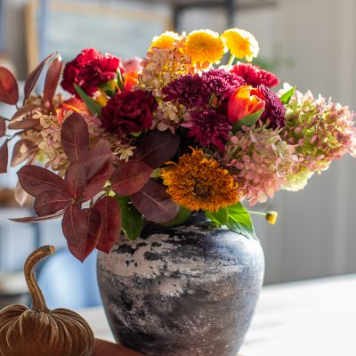 Garden and Grocery Store Fall Flower Arrangement