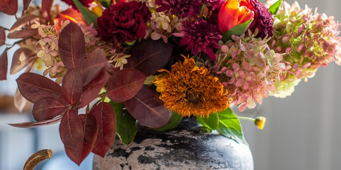 Garden and Grocery Store Fall Flower Arrangement
