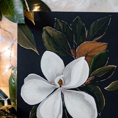 Moody Magnolia Painting- Free Printable