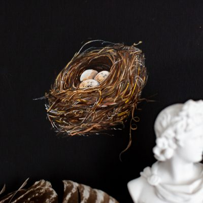Nest Acrylic Moody Painting